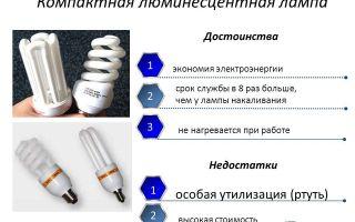 Использование и утилизация люминесцентных ламп дневного света