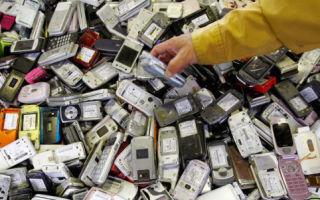 Утилизация мобильных телефонов и аккумуляторных батарей