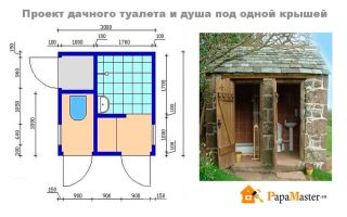 Проекты дачных туалетов с душем и без своими руками