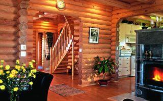 Какой интерьер сделать для дома из оцилиндрованного бревна — чтобы подчеркнуть экологичность жилища