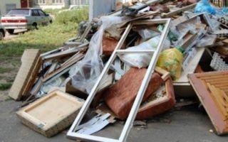 Крупногабаритный мусор — какие отходы относятся к данному определению